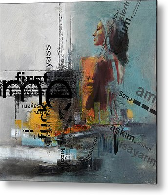Abstract Women 013 Metal Print by Corporate Art Task Force