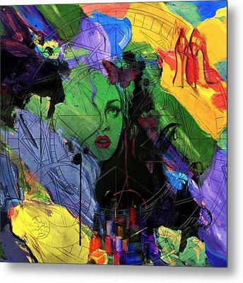 Abstract Women 014 Metal Print by Corporate Art Task Force