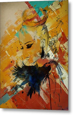 Abstract Women 010 Metal Print by Corporate Art Task Force