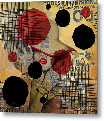 Abstract Women 07 Metal Print by Mahnoor Shah