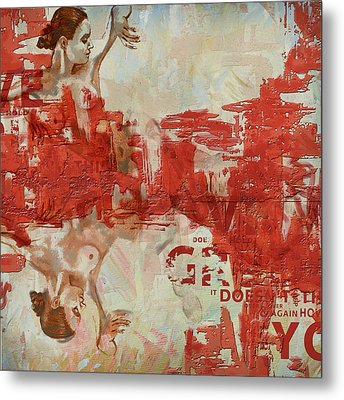 Abstract Women 20 Metal Print by Corporate Art Task Force