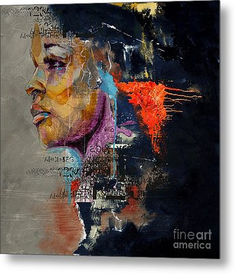 Abstract Women 20 Metal Print by Mahnoor Shah
