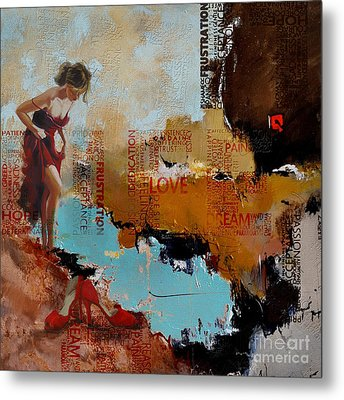 Abstract Women 24 Metal Print by Mahnoor Shah