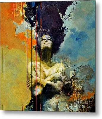 Abstract Women 3 Metal Print by Mahnoor Shah