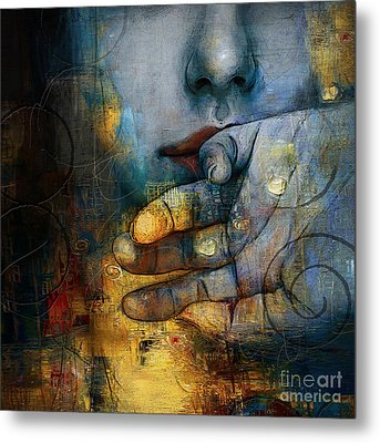 Abstract Women 5 Metal Print by Mahnoor Shah