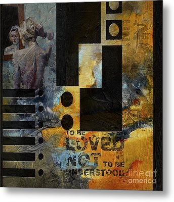 Abstract Women 6 Metal Print by Mahnoor Shah