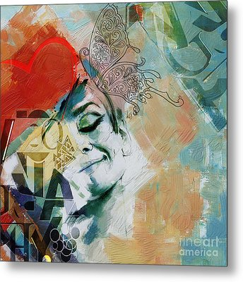 Abstract Women 8 Metal Print by Mahnoor Shah