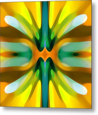 Abstract Yellowtree Symmetry Metal Print
