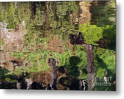 Metal Print featuring the photograph Abstracted Reflection by Kate Brown