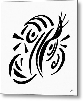 Astratto - Abstract 13 Metal Print by Ze  Di