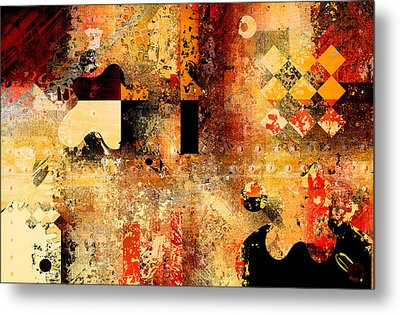 Abstracture - 103106046f Metal Print by Variance Collections