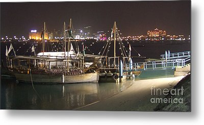 Metal Print featuring the photograph Abu Dhabi At Night by Andrea Anderegg