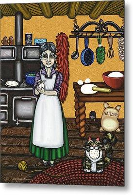 Abuelita Or Grandma Metal Print by Victoria De Almeida