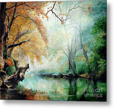 Metal Print featuring the painting Abyss by Sorin Apostolescu
