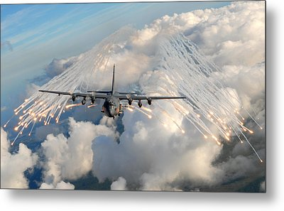 Ac-130h-u Gunship Aircraft Metal Print by Celestial Images