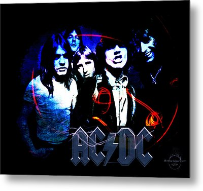 Ac/dc - Rock Metal Print