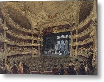Academie Imperiale De Musique Paris Metal Print by Louis Jules Arnout