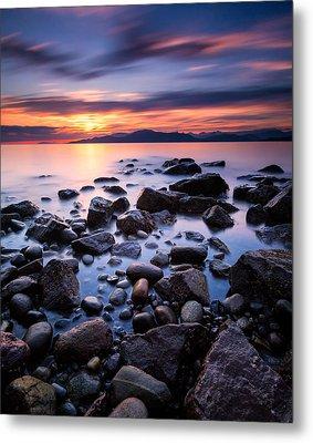 Acadia Beach Metal Print