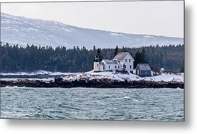 Acadia National Park Schoodic Lighthouse Metal Print by Trace Kittrell