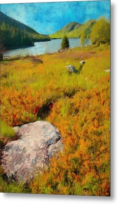 Metal Print featuring the painting Acadia Spring by Jeff Kolker