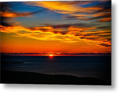 Acadia Sunrise Metal Print