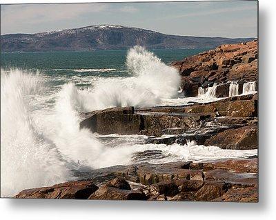 Acadia Waves 4198 Metal Print by Brent L Ander