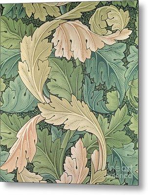 Acanthus Wallpaper Design Metal Print by William Morris