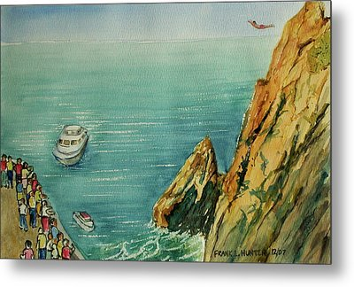Acapulco Cliff Diver Metal Print by Frank Hunter