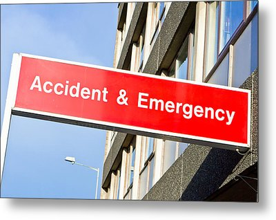 Accident And Emergency Metal Print