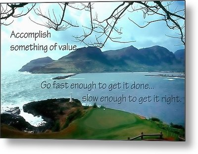 Accomplish Value 21168 Metal Print by Jerry Sodorff