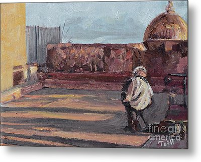 Accordion Man Of Old San Juan Metal Print