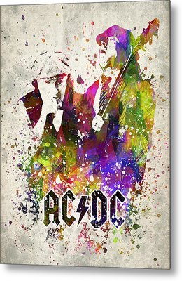 Acdc In Color Metal Print