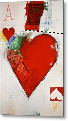 Ace Of Hearts 8-52 Metal Print by Cliff Spohn