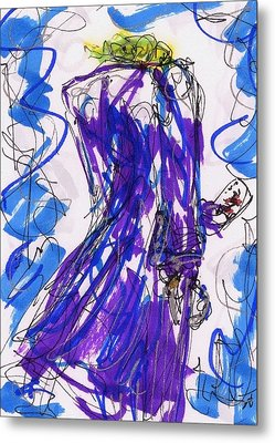 Aceo Joker V Metal Print by Rachel Scott