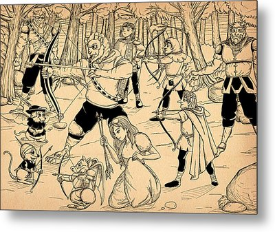 Metal Print featuring the painting Archery In Oxboar by Reynold Jay