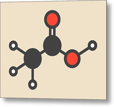 Acetic Acid Molecule Metal Print by Molekuul