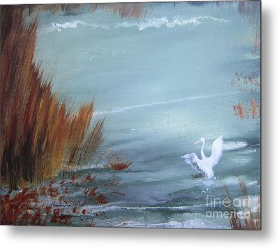 Achieving Stillness  Metal Print by Laurianna Taylor