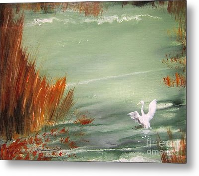 Achieving Stillness2 Metal Print by Laurianna Taylor