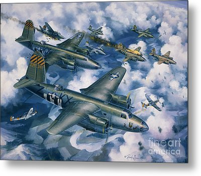 Achtung Zweimots Metal Print by Randy Green