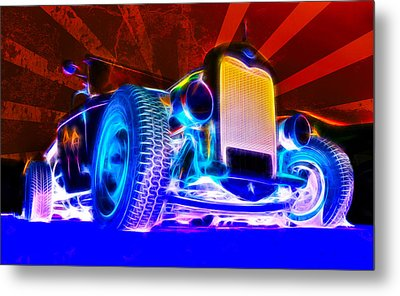 Acid Ford Hot Rod Metal Print by Phil 'motography' Clark