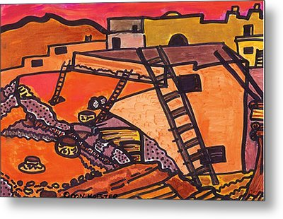 Metal Print featuring the drawing Acoma  by Don Koester