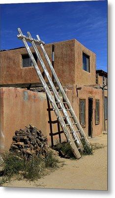 Acoma Pueblo Adobe Homes 3 Metal Print by Mike McGlothlen