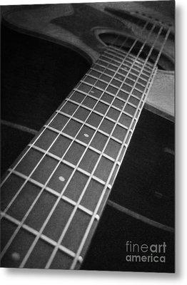Acoustic Guitar Metal Print by Andrea Anderegg