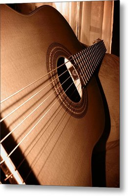 Acoustic Guitar Metal Print by Ester  Rogers