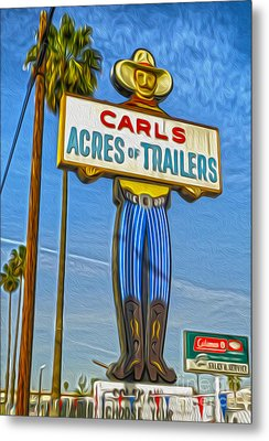Acres Of Trailers 2 Metal Print by Gregory Dyer