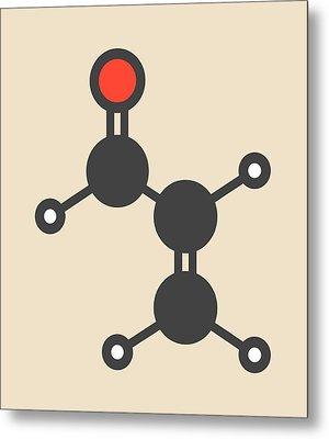 Acrolein Molecule Metal Print