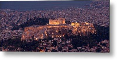 Acropolis Of Athens, Athens, Attica Metal Print