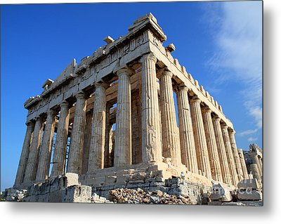 Acropolis Of Athnes Metal Print by Holger Ostwald