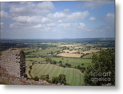 Across Cheshire From Beeston Castle England Metal Print