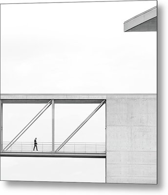 Across The Bridge Metal Print by Klaus Lenzen